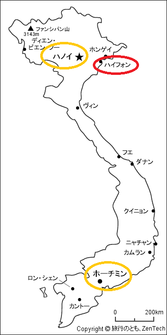 ハイフォン地図